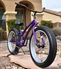 bahama cruisers fat tire cruisers deep purple frame and silver