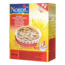 <b>Хлопья Nordic</b> (Нордик) <b>4</b> вида зерновых, с 12 мес.. 600 гр ...