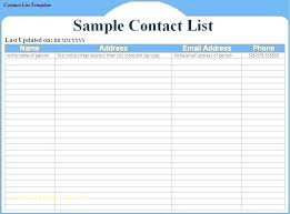 Phone Roster Template Mesmerizing Phone List Template Free Download Contact Word Name And Number