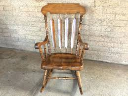 rocking chair wooden vintage vintage solid wood rocker rocking chair photo 1 rocking chair for baby olx