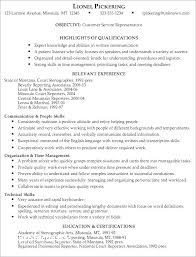 Resume Templates Customer Service Best Customer Service Resume Template For Sample Client Manager