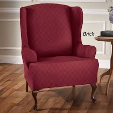 wingback chair. Newport Stretch Slipcover Wing Chair Wingback