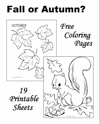 Small Picture Fall Coloring Pages Sheets and Pictures