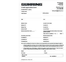 Customer Credit Application Form New Altpaper Co