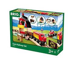 brio farm railway set toy train set for kids made with european beech wood