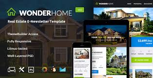 real state template wonderhome real estate email template builder access by jeetug