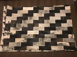 handmade cowhide leather patchwork real leather cow hair on skin rugs