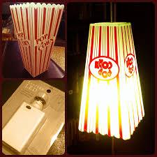 Popcorn Pendant Light One Plastic Popcorn Bucket One Led