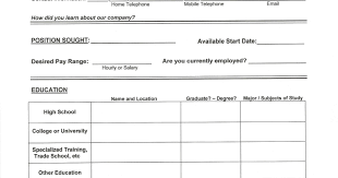 Filling Out A Resume Early Career Resumes How To Fill Out A