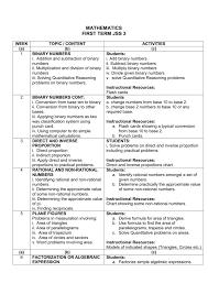 Mathematics First Term Jss 3 Naf Directorate Of Education