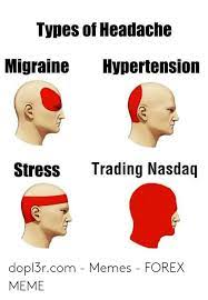 Updated daily, for more funny memes check our homepage. Types Of Headache Migraine Hypertension Trading Nasdaq Stress Dopl3rcom Memes Forex Meme Meme On Me Me