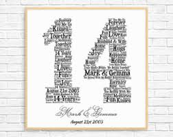 14th anniversary etsy Wedding Anniversary Gifts Under 200 personalized 14th anniversary gift ~ word art ~ printable art ~ unique anniversary gift ~ 14 Gifts for Women $200