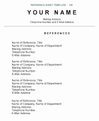 Resume References Example Fascinating How Do You Make A Reference Page For A Resume Lovely Resume