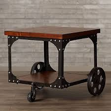 industrial iron furniture. gorgeous rustic metal furniture industrial end table iron wood accent side vintage