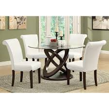 Glass top dining sets Grey Monarch Olympic Ring Dark Espresso Glass Top Round Dining Table Walmartcom Walmart Monarch Olympic Ring Dark Espresso Glass Top Round Dining Table