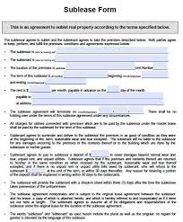 Sublease Form Free Iowa Sublease Agreement Form Pdf Template