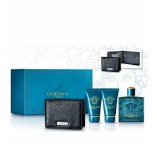 versace eros for him set 100ml as blm 50ml s g 50ml