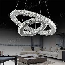 lighting cute crystal ring chandelier 19 2 led modern ceiling pendant two ring crystal chandelier