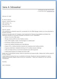 Sample Cover Letter For Office Manager Office Manager Resume Cover