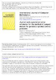 Pdf A Priori And A Posteriori Error Estimates For The Method Of
