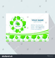 Lime Creative Design Creative Business Card Template Lime Vector Stock Vector