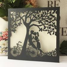 Wedding Invitations With Tree Designs Us 16 32 49 Off 20pcs Lot Unique Tree Design Laser Cut Wedding Invitation Cards Event Party Supplies Greeting Blessing Card In Cards Invitations