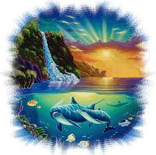 Cross Stitch World Free Patterns Simple Dolphin Cove Cross Stitch Pattern LOOK Crafts Cross Stitch