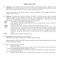 Good Nursing Notes Examples - April.onthemarch.co