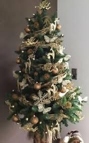 Details Zu 5 Glitzer Schneeflocken Christbaumschmuck Weihnachtsbaum Dekoration Sterne Gold