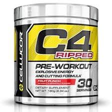 cellucor c4 ripped pre workout thermogenic fat burner with energy and weight loss fruit punch
