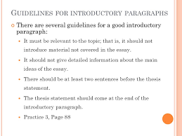 eng writing chapter from paragraph to essay ppt video 9 guidelines for introductory paragraphs