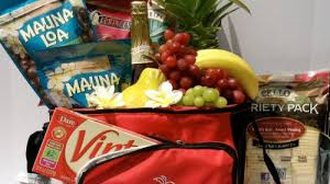 gift basket featuring hawaiian foods
