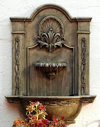 outdoor water wall kit mounted fountains formal garden mountwall fountain in picture frame canada