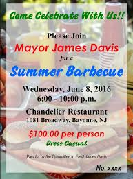 the 100 a head fundraiser at the chandelier restaurant at 1081 broadway will run from 6 to 10 p m according to