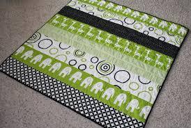 modern strip baby quilt