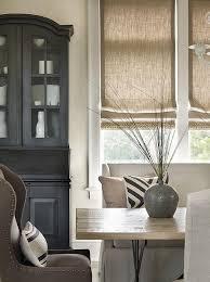 Burlap Window Shades At A Coffee ShopBurlap Window Blinds