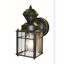 colonial outdoor lighting fixtures inspirational secure home 9 52 in h matte black motion activated
