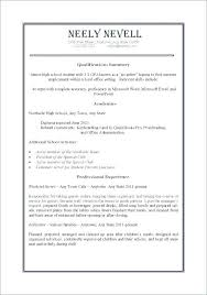 Sample Of Resume For Working Student Sample Resume High School No Work Experience Englishor Com