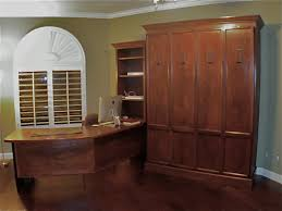 dark mahogany furniture. Dark Brown Lacquered Mahogany Wood Murphy Bed Which Integrated With Curved Working Desk, Adorable Queen Furniture D