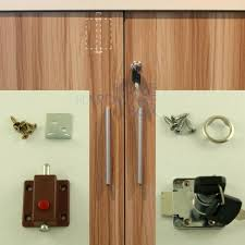 spring loaded bolt cabinet double swing door latch and lock with two keys in bolts from