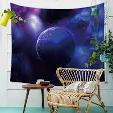 galaxy universe starry planet celestial shinning clouds wall art decor tapestry wall hanging cloth