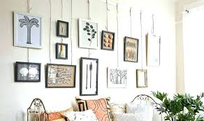 hanging pictures without frames diy picture with ribbon