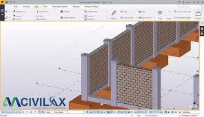 Create Masonry Wall Fence In Tekla Structures 2016i Civil