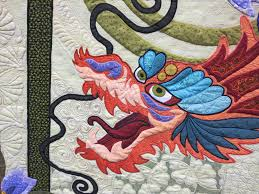 Lemon Tree Tales: Quilts & Detail from The Quilt with the Dragon Tattoo by Nancy Arseneault Adamdwight.com