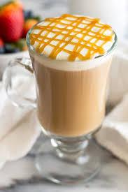 a homemade copycat recipe for starbucks caramel macchiato but better from bakingmischief