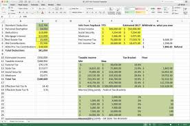W2 Excel Template 2019 Tax Estimate Spreadsheet