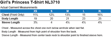Next Level Kids Size Chart Can You Kenken Girls Princess T Shirt Kenken Store