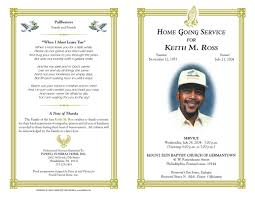 Free Printable Funeral Program Templates Free Funeral Program Templates funeral program sample order of 1
