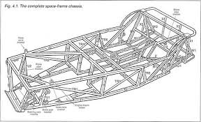 car chassis basics how to design tips diagram sf1 spaceframe chassis for a lowcost car from ron champion s book