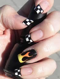 Nascar Nail Art Designs